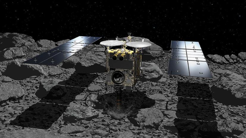 Идеальное приземление японский зонд Хаябуса-2 собрал образцы грунта на астероиде Рюгу