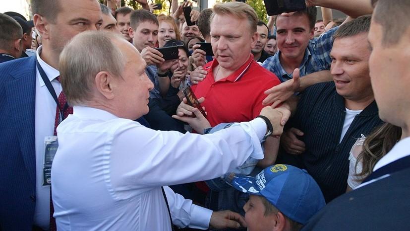 В Кремле прокомментировали выход Путина к людям в Екатеринбурге