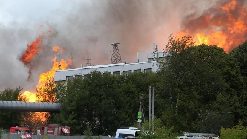 В МЧС назвали причину пожара на ТЭЦ в Мытищах