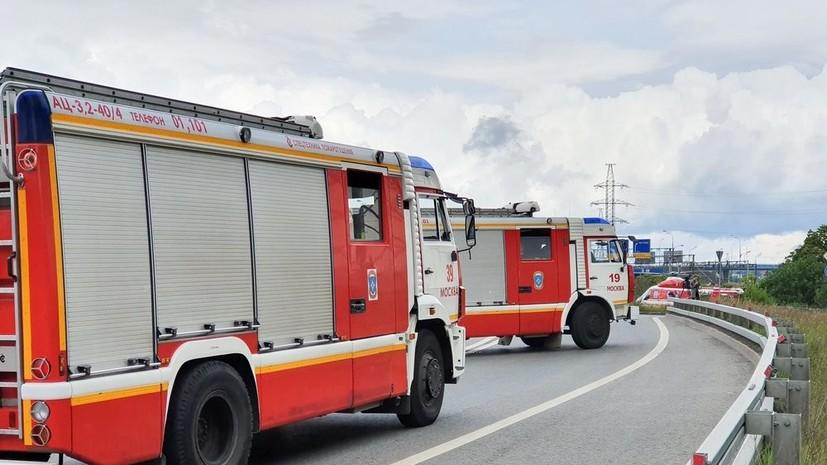 Пожар в двух зданиях рядом с ТЭЦ в Мытищах локализован