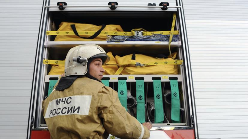 В районе центрального рынка Перми произошёл пожар