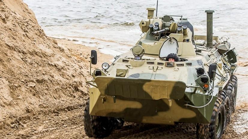Морские пехотинцы ЧФ провели учения по борьбе с десантом противника