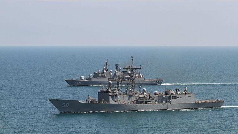 Российские военные наблюдают за учениями стран НАТО в Чёрном море