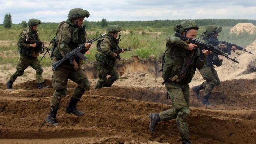 Мотострелки ЗВО провели учения в Ленинградской области