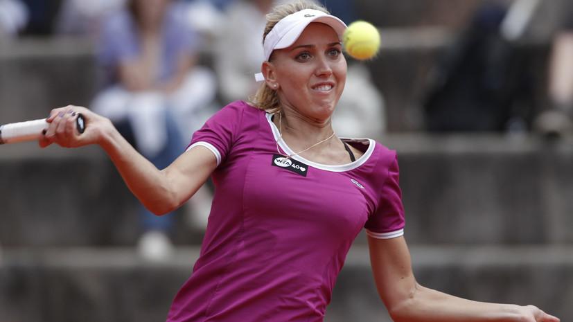 Стало известно, когда теннисистка Веснина возобновит тренировки