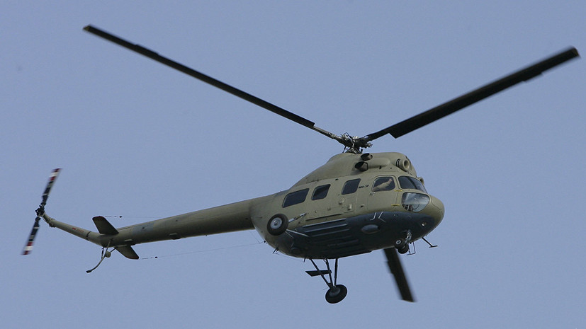 На Украине разбился вертолёт Ми-2