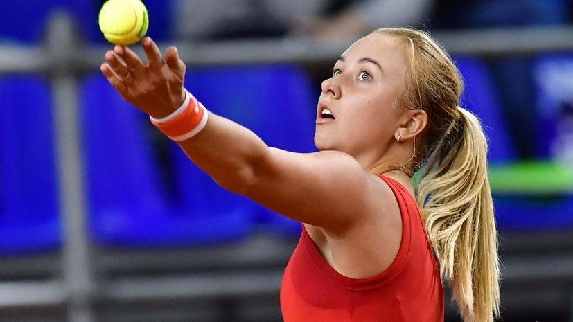 Потапова обыграла Кучову и вышла во второй круг турнира в Лозанне