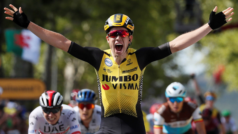 Бельгиец ван Арт победил на десятом этапе «Тур де Франс»