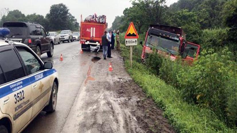 В Приморье в ДТП с участием грузовика погибли шесть человек