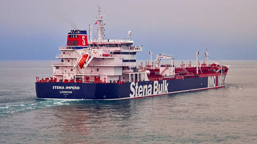 Посольство: связи с россиянами на танкере Stena Impero пока нет