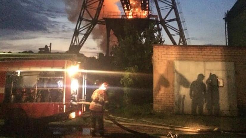 В Киеве произошло возгорание на территории ТЭЦ