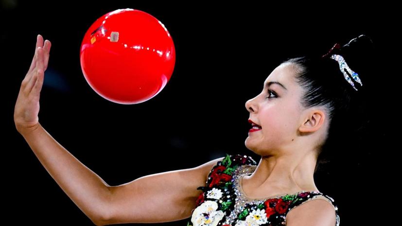 Гимнастка Крамаренко заняла первое место в упражнении с мячом на ЮЧМ