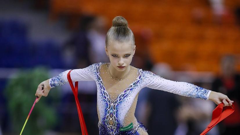 Гимнастка Сергаева выиграла золото ЮЧМ в упражнении с лентой