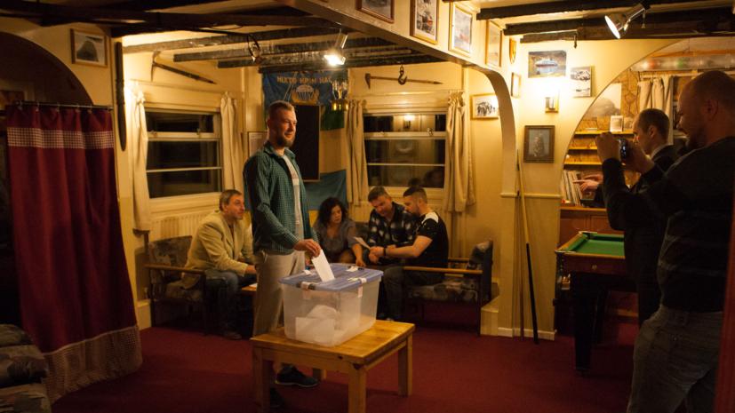 Украинские полярники проголосовали на парламентских выборах