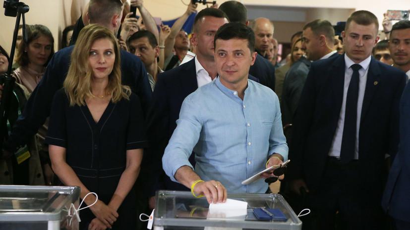 Зеленский поблагодарил избирателей после выборов в Раду