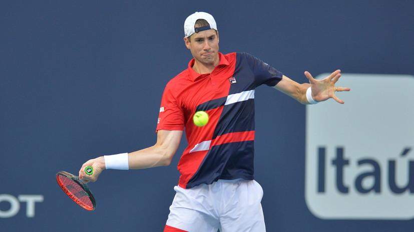 Американский теннисист Изнер завоевал 15-й титул в карьере, выиграв турнир в Ньюпорте