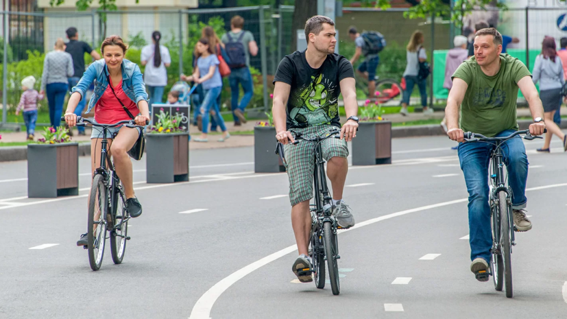 В московских парках проложили более 90 км велодорожек