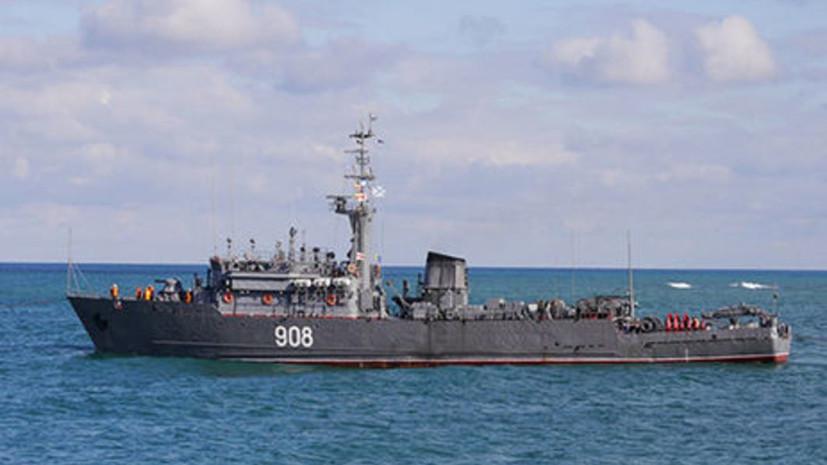 Тральщик ЧФ «Вице-адмирал Захарьин» возвращается в Новороссийск из Средиземного моря