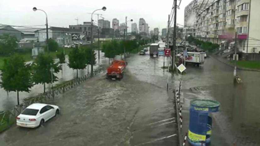 В МЧС сообщили о стабилизации ситуации в Краснодаре после сильных дождей