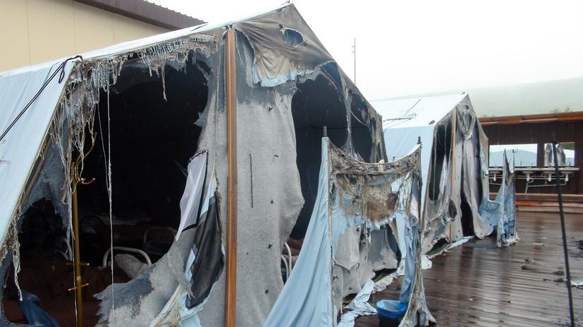 Тушение пожара в лагере в Хабаровском крае заняло более двух часов