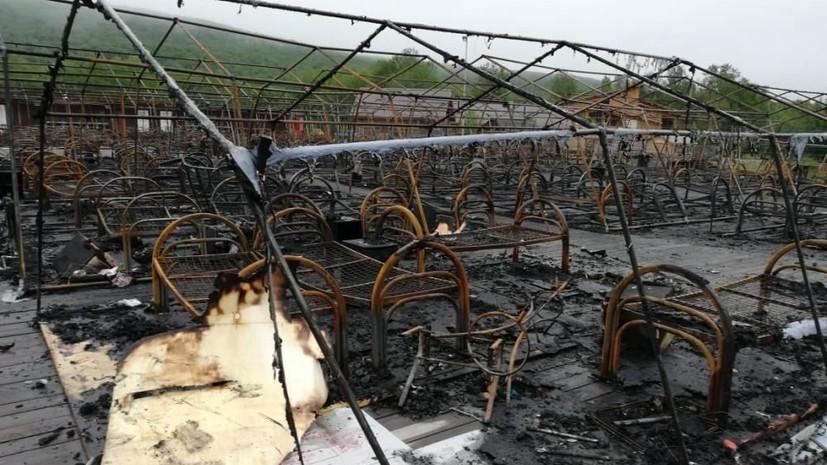 Число жертв пожара в детском лагере в Хабаровском крае выросло до трёх