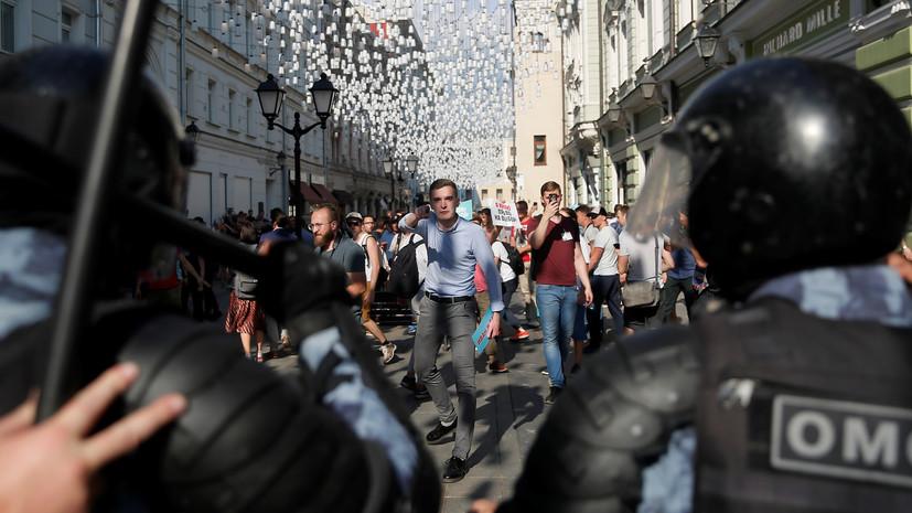 Собянин заявил об адекватном применении силы полицией на акции 27 июля
