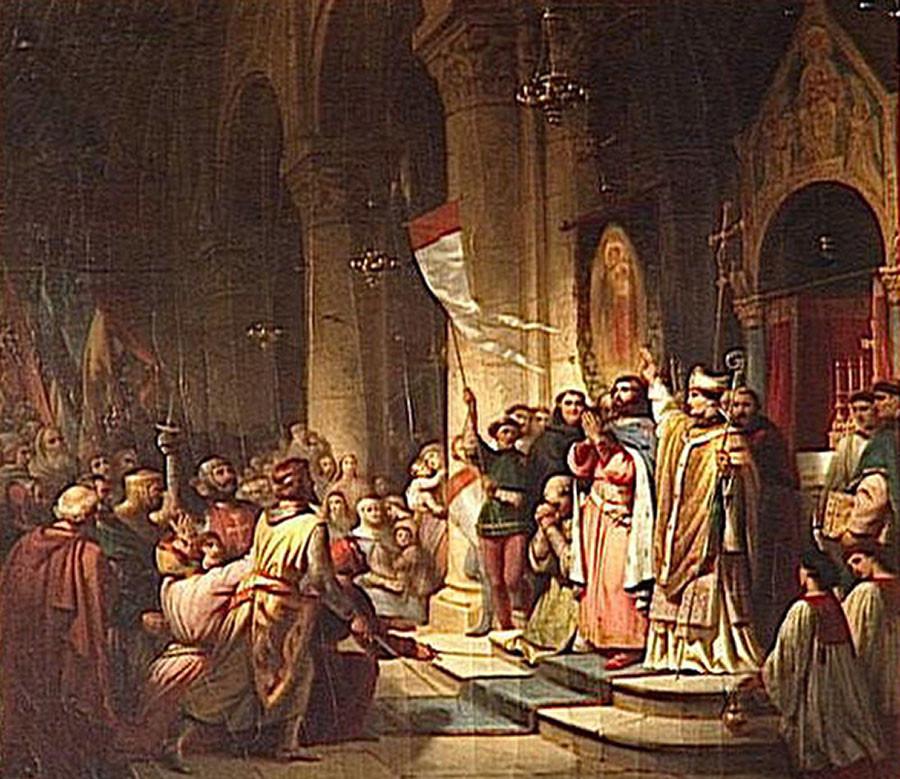 Подписание Флорентийской унии в Соборе Санта-Мария-дель-Фьоре.