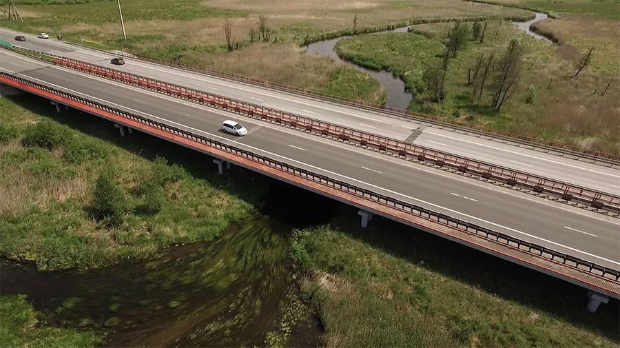 •Мост через реку Теча, федеральная трасса «Урал»