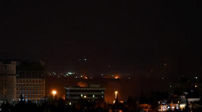 Ночной обстрел Дамаска попал на видео