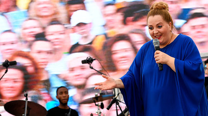 Нино Катамадзе во время выступления на международном фестивале «Усадьба Jazz»