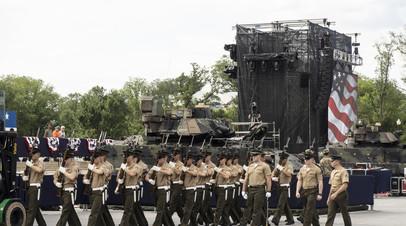 Подготовка к военному параду в честь Дня независимости в Вашингтоне