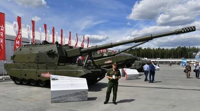 САУ «Коалиция» на международном военно-техническом форуме «Армия-2019»