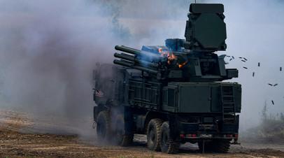 ЗРПК «Панцирь» во время демонстрационных стрельб
