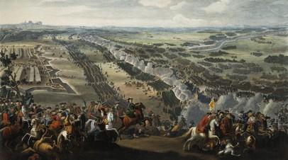 Денис Мартен. «Полтавская битва». 1726