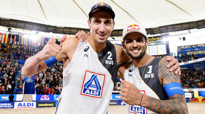 Золотой песок: Красильников и Стояновский впервые в истории России выиграли ЧМ по пляжному волейболу