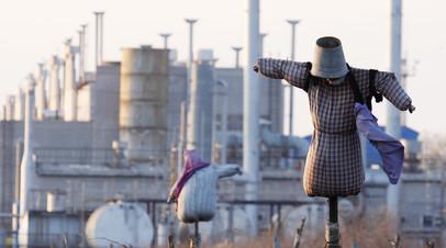 Газоперекачивающая станция на Украине