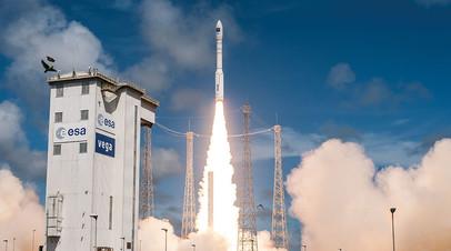 Запуск ракеты с космодрома Куру во Французской Гвиане