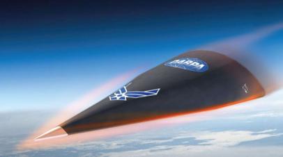 Изображение Falcon HTV-2, показывающее этап входа гиперзвукового аппарата в плотные слои атмосферы