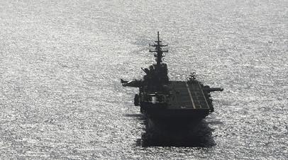 Корабль США сбил иранский беспилотник в районе Ормузского пролива