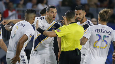 Ибрагимович оскорбил тренера «Лос-Анджелеса» после матча MLS