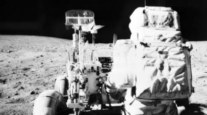 Астронавты миссии «Аполлон-16» на Луне, 1972 год