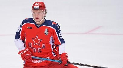 Хоккеист Капризов нанёс первый удар по мячу в матче РПЛ ЦСКА — «Оренбург»