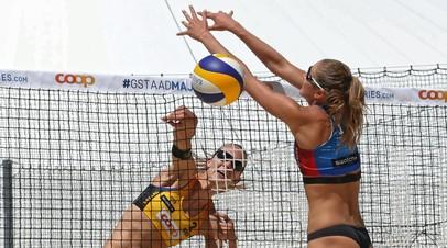 Макрогузова и Холомина выиграли этап Мирового тура по пляжному волейболу в Португалии