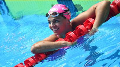 Ефимова с лучшим результатом в плавании на дистанции 100 м брассом вышла в финал ЧМ
