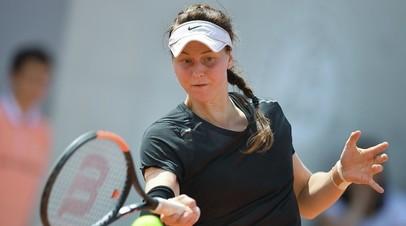 Самсонова пробилась во второй круг турнира WTA в Палермо