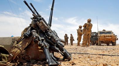 Военные США во время учений на границе Иордании и Саудовской Аравии