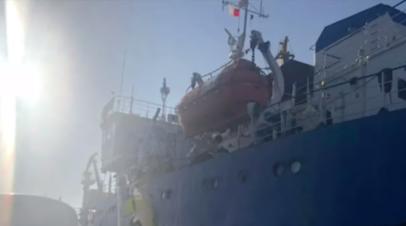 Экипаж задержанного на Украине танкера пересёк границу с Молдавией