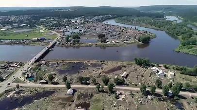 Город Тулун в Иркутской области после паводка