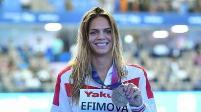 Четыре медали россиян, достижения Ефимовой и скандал из-за домогательств: итоги последнего дня ЧМ по водным видам спорта