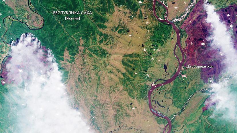 «Роскосмос» опубликовал спутниковый снимок пожаров в Сибири
